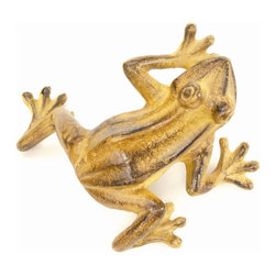 Achla - Jumping Frog in Tawny - Set of 4 - Set of 4. Cast Aluminum. 6 in. W x 8 in. L x 3.5 in. H