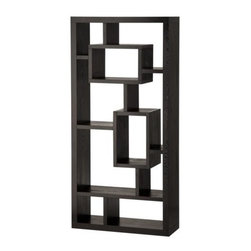 Exotic Retreat Bookcase/Room Divider - Featuring a sleek design, the Dark Chocolate Bookcase is a refreshing take on office furniture. Transforming your space from cluttered to organized with classic style, this bookcase features an antiqued finish that lends character to your space. Coordinate with a soft rug and fresh flowers to create a room to enjoy.