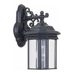 Sea Gull Lighting - 1-Light Wall Lantern Black - 8835-12 Sea Gull Lighting Hill Gate 1-Light Outdoor Wall Lantern with a Black Finish