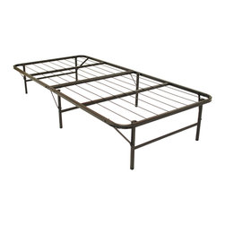 None - Pragma Bi-Fold Twin-Size Bed - Provide extra sleeping space whenever you need it with this twin-sized folf bed. The metal bed can be folded and unfolded as needed,allowing you to store the piece out of the way until the extra bedding is needed for visiting guests..