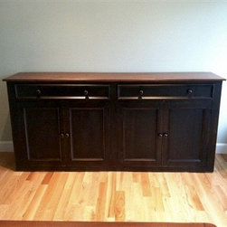 Black Rustic Style Server For Cottage In Maine - Made by http://www.ecustomfinishes.com