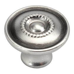 Hickory Hardware - Hickory Hardware 3/4 In. Manor House Silver Stone Cabinet Knob - Classic lines, finishes and styles create a warm and comforting feel.  Usually 18th-century English, 19th-century neoclassic, French country and British Colonial revival.  Use of classic styling and symmetry creates a calm orderly look.