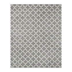 Safavieh - Safavieh Handmade Moroccan Dark Grey Wool Lattice Rug (8'9 x 12') - This handmade wool rug combines a beautiful Moroccan design with a durable cotton canvas backing. The dark gray color is neutral and will fit in any room's color scheme. A plush pile of 0.5 inches makes the rug comfortable to walk on.