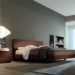 Ken Wooden Bed - Ken wooden bed by Europeo is a simple, yet elegant, low platform bed and the essence of Italian design.