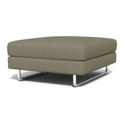 True Modern - Hamlin Ottoman, Ivory - An oversized ottoman is great for a large space. You can use this for seating, kicking up your feet or resting a drink or snack. The sleep design makes it the ideal addition to your minimalist living room.