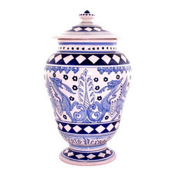 Artistica - Hand Made in Italy - Deruta: Apothecary Canister - Masterfully Hand-Painted in Deruta Italy!