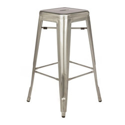 Lemoderno - Fine Mod Imports  Talix Counter Stool, Gunmetal - More than three quarters of a century later, the famous chair adopts a new look. A versatile stool that is comfortable and great for use in any location whether indoors or outdoors. Stools are stackable for easy storage. Outdoor powder coating protection    Assembled