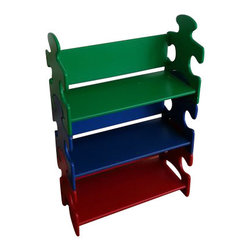 KidKraft - Puzzle Book Shelf - Primary by Kidkraft - Our popular Puzzle Bookshelf is perfect for helping young children stay organized. With its bright colors and creative design, this shelf would look perfect in any boy or girl�s room.