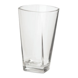 Office Settings - Office Settings Cozumel Beverage Glasses, 16oz, Clear, 6/Box - Contemporary prism design provides a touch of stylish elegance to both beverage service and fine-dining table settings.
