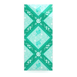 """Kess InHouse - Anneline Sophia """"Diamonds Mint"""" Green Seafoam Metal Luxe Panel (9"""" x 21"""") - Our luxe KESS InHouse art panels are the perfect addition to your super fab living room, dining room, bedroom or bathroom. Heck, we have customers that have them in their sunrooms. These items are the art equivalent to flat screens. They offer a bright splash of color in a sleek and elegant way. They are available in square and rectangle sizes. Comes with a shadow mount for an even sleeker finish. By infusing the dyes of the artwork directly onto specially coated metal panels, the artwork is extremely durable and will showcase the exceptional detail. Use them together to make large art installations or showcase them individually. Our KESS InHouse Art Panels will jump off your walls. We can't wait to see what our interior design savvy clients will come up with next."""