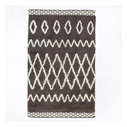 Kasbah Wool Rug, Steel - I love this soft classic rug in a fresh dark charcoal color. It's heavenly.