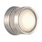 "Gear Satin Aluminum 5"" Wide Outdoor Wall or Ceiling Light"