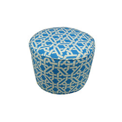 "Lava - Terrace Pool Pouf - 12"" Tall x 17"" Round (Indoor/Outdoor) - 100% polyester cover, 100% polyestyrene bead fill. Suitable for use indoors or out. Made in USA. Spot clean only."