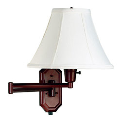 Kenroy Home - Kenroy Home 30130 Swing Arm Wall Sconce From the Nathaniel Collection - Traditional / Classic Swing Arm Wall Sconce From the Nathaniel CollectionKenroy Home�s swing-arm lamps are available in a variety of styles, ranging from traditional to ultra-modern, and many come in coordinated collections, making it easy to match the lamp with an existing chandelier, torchiere, or table lamp.  Like many of our sconces, Kenroy Home�s swing-arm lamps don�t necessarily require costly in-wall installation. Most can simply be mounted to the wall with two small screws and plugged into an electrical outlet. For those worried about the look of dangling cords, all of Kenroy�s swing-arm designs include cord covers: long, thin strips that match the finish of the lamp and provide a clean-looking transition from lamp to outlet. For maximum camouflage, the lamps can be hard-wired to a junction box, allowing them to operate from a wall switch. Functional and stylish, our swing arms make it easy to direct light where you need it.  Adjust the arm to bring light to a bedside table or reading chair.  In a wide array of finishes and styles, these versatile swing arms are sure to lighten up any room.