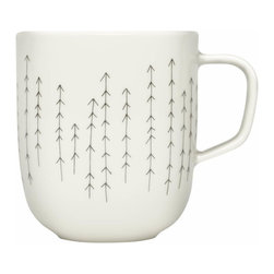 Iittala - Sarjaton Mug, Metsa - You'll have no trouble getting up in the morning with coffee served in this mug. The simply pretty pattern will point you in the right direction and give your day a dynamic start.