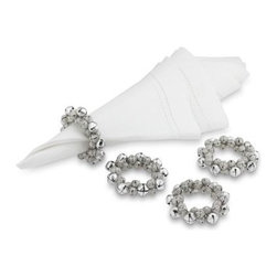 Jingle Bell Napkin Rings - These are the most fun holiday napkin rings I have seen in a long time; I love them. Singing at the table is even better when you have an instrument to sing along to. These should be a huge hit at the table.