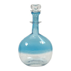 iMax - iMax Agio Small Glass Bottle With Stopper - Light and airy, the Agio glass stoppered bottle brings apothecary home in style.