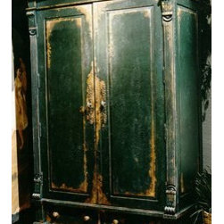 """Habersham - Habersham Edwardian Armoire - It all started in the small North Georgia town of Clarkesville. It was 1969 and Habersham founder Joyce Eddy had just been given the chance to operate a small antique shop located above an old laundromat. This was just the opportunity a woman of Joyce's vision and energy would turn into the perfect blend of utility artistry and soul. Looking for ways to make her antique business more profitable she began crafting small decorative purses from vintage wooden cigar boxes. They were totally unique and they were an instant hit. Joyce named her new venture Habersham Plantation after Georgia's Habersham County and the plantations for which the area was known. The ideas just kept coming. One day Joyce was driving by a local textile company and spotted a large pile of old discarded wooden spools. Those spools were soon crafted into candleholders towel racks and folk art items. With the help of her sons and other family members Joyce expanded Habersham's offerings to include handcrafted furniture reflecting the American Country designs of the early 17th and 18th centuries. As word spread and production demands grew Joyce enlisted the help of woodworkers from her North Georgia region. This area had been a center for cabinetmaking since the early 1800s and the master craftsmen were well-schooled in the time-tested woodworking and joinery techniques that matched Joyce's sense of style and function. She even designed her factory to work just as the 18th century cabinetmakers did with individual artisans hand-finishing signing and dating each piece of furniture they crafted. Today Habersham still leads the way in the fine art of furniture design. So much so that in addition to their product line a new """"whole home"""" concept is finding its way into some of the finest dwellings in the country. Custom kitchen bath and other cabinetry designs offer rich opulent finishes and blend seamlessly with rooms of casual elegance all enhancing today's gra"""