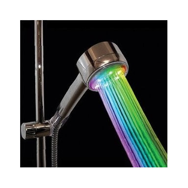 Color Changing Shower Head, Rainbow LED - If installed in my son's bathroom, I am fairly certain I would take the title as the coolest mom ever.