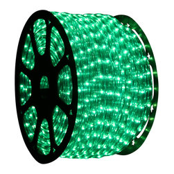 Seasonal Source - 1/2 inch 150 ft LED Green Rope Light - LED Rope Lighting is some of the most versatile lighting.  It can be wrapped around and bent into almost any shape or object.  This allows you to be able to create spectacular