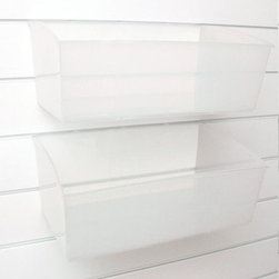 Martha Stewart Living - Martha Stewart Living™ Garage Large Clear Bins - Set of 3 - Our generously-sized Martha Stewart Living™ Garage Large Clear Bins come as a set of three. Prevent leaks and spills by storing cleaning products and oil cans in these large plastic storage bins. Sturdy yet lightweight, these garage storage bins are made to fit the Martha Stewart Living™ Garage Wall Panel, sold separately. Set of three. Clear plastic. Easy to clean.