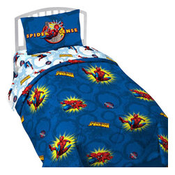 Jay Franco and Sons - Marvel Comics Spider-Man Pow Twin Comforter Bedding Set - FEATURES: