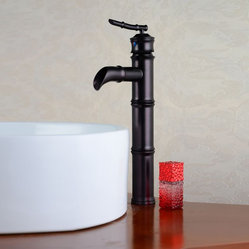 Bamboo Design Oil Rubbed Bronze Bathroom Vessel Faucet