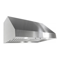 "Imperial - Imperial WH1942PS1-TWB-8 42; Wall Range Hood w/ Baffle Filters - Imperial WH1942Ps 1-TWB-8-SS Wall Range Hood w/ Baffle Filters 1320 CFM, stainless steel; white or black powder coat and stainless steel baffle. Two 8"" inch duct's 24"" Depth (front/back). Front panel requires two 50 watt halogen lights (PAR 20);54 and 60 inch widths require four 50 watt halogen lights (PAR 20) in front panel. 115 AC, 60 HZ, 9 Amps  Suggested use with 15 Amp Circuit. Twin blowers. Independent control of variable fan speed and lighting intensity. 1.5 (low) - 4.6 (high)  Sones 1320 ( CFM)"
