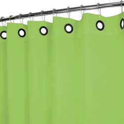Park B. Smith - Park B. Smith Watershed Solid Large Grommet Shower Curtain - DSLG40-ALO - Shop for Shower Curtains from Hayneedle.com! The Park B Smith Dorset Solid Large Grommet Shower Curtain is made of quick-drying machine-washable polyester fabric in a variety of color options you'll love. It needs no liner is mold and allergy resistant and features large grommets at the top and weighted bottom.