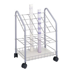 Safco - Safco Tubular Steel Wire Roll File - 20 Compartments - Safco - Wire Storage - 3091 - This tubular steel wire roll file is a sturdy economical alternative to other organizers. The unit rolls easily to any location on twin wheel casters (2 lock) for convenience. Square tube design provides easy access and removal of materials.