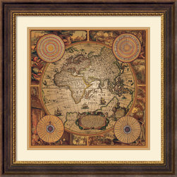 Amanti Art - Cartographica 1 Framed Print by Max Besjana - Vintage maps are a classic accent that never goes out of style. Whether you are a map lover or wish to document and showcase where you have been (or would like to go), maps make a great addition to any space.