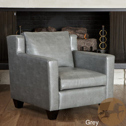 Christopher Knight Home - Christopher Knight Home Quaker Leather Club Chair - Stylishly relax in your Quaker club chair in any room of your home. Supple leather and rounded square accents bring this club chair to a whole new level of sophistication.