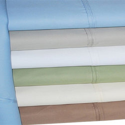 Bed Linens - Cotton Rich 600 Thread Count Solid Sheet Sets Cal-King Light Blue - Dress up your bedroom decor with this luxurious 600 thread count Cotton Rich sheet set. A superior blend of materials makes these sheets soft, easy to care for and wrinkle resistant. Each sheet set is made of 55% Cotton and 45% Polyester.