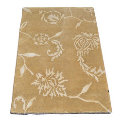 1800-Get-A-Rug - Oriental Rug Modern Nepali Mat Wool and Silk Hand Knotted Rug Sh7419 - About Modern & Contemporary