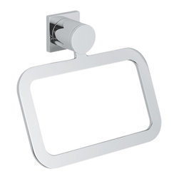 Grohe - Grohe 40339000 Towel Ring In Starlight Chrome - Grohe 40339000 from the Allure Faucet Collection is designed for modern living which reflects in its styling with graceful curves and bold angles. Also features SilkMove for smooth operation. The Grohe 40339000 is a Towel Ring With a dazzling and highly reflective Chrome finish.