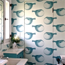 Abnormals Anonymous Mr Blow in Blue Lagoon - Design by Laura Divenere Interiors