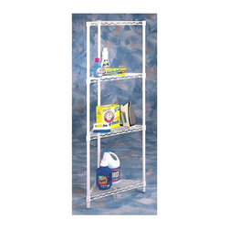 Metro Shelving - 54 Inch Tall Corner Shelf - Utilize that empty corner space with this four and a half feet tall shelving unit. Each of its four triangular shelves are easily adjustable and hold up to 500 pounds each, so there's no limit to what you can use this space-saving unit for.