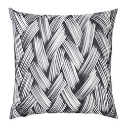 Louise Roe Design Essentials - Metal Wire Decorative Pillow - Add a raw graphic touch to your couch or chair. Digital photo print on a cushion in 100% cotton canvas - soft to the touch. By Danish designer Louise Roe.