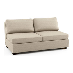 Viesso - Rio Armless Full Sofa Bed (Custom) - This sofa bed design uses classic lines within the larger context of modern aesthetic. The armless feature helps maximize the seating area. This modern sofa bed works like traditional pullout sleepers, where the bed is folded inside of the frame. But we offer two mattress options.
