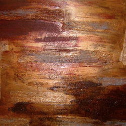 Londyn Heights - Ruffled- A Copper Toned Textured Original Piece - One of my personal favorites. This amazing pieces really shines when the light is cast upon it.