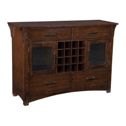 Standard Furniture - Standard Furniture Artisan Loft 54 Inch Server in Aged Bronze - The rustic yet refined character of arts and crafts styling is portrayed in the authentic craftsman elements found in artisan loft dining.