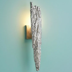 Silver Bark Wall Sconce -