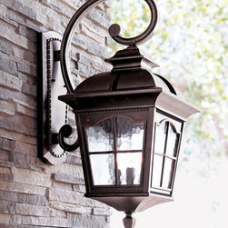 """Colonial"" Three-Light Wall Lantern -"