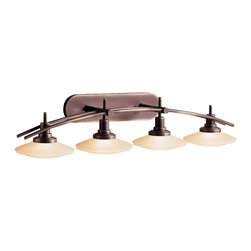 Kichler - Kichler Structures Bathroom Lighting Fixture in Olde Bronze - Shown in picture: Kichler Bath Strip 4Lt Halogen in Olde Bronze
