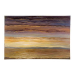Grace Feyock - Grace Feyock Spacious Skies Wall Art X-10223 - This serene hand painted oil on canvas is stretched and attached to wood stretching bars. Due to the handcrafted nature of this artwork, each piece may have subtle differences.