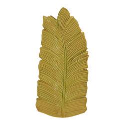 Unique Styled Fantastic Ceramic Leaf Vase - Description: