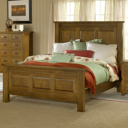 Hillsdale - Outback Panel Bed - Features: -Sturdy and stylish.-Rustic charm.-Aged and distressed appearance.-Warm chestnut finish.-Outback collection.-Distressed: Yes.-Collection: Outback.Dimensions: -Overall Product Weight: 176 lbs.