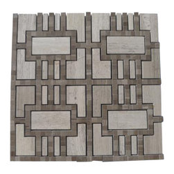 "Lineage Gray Wood and Athens Gray Line Marble Tile - Lineage Gray Wood and Athens Gray Line Marble Tile This marble mosaic will provide endless design possibilities from contemporary to classic. It creates a great focal point to suit a variety of settings. Color: Gray Material: Athens Gray and Gray Wood Finish: Polished Sold by the Sheet- each sheet measures 12""x12"" (1 sq.ft.) Thickness: 10 mm Please note each lot will vary from the next."