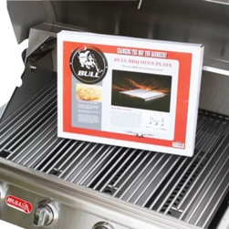 Bull BBQ - Bull BBQ Oven Plate - This Bull BBQ Oven Plate is a Patented Aluminum Design and becomes the complete outdoor gill master.It turns any grill into a Convection Oven. You can Bake, Roast, Slow Cook and more.