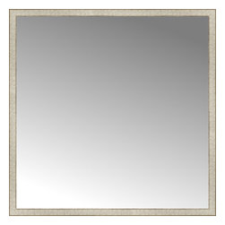 """Posters 2 Prints, LLC - 56"""" x 56"""" Libretto Antique Silver Custom Framed Mirror - 56"""" x 56"""" Custom Framed Mirror made by Posters 2 Prints. Standard glass with unrivaled selection of crafted mirror frames.  Protected with category II safety backing to keep glass fragments together should the mirror be accidentally broken.  Safe arrival guaranteed.  Made in the United States of America"""